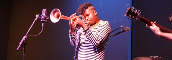 Christian with reverse flugelhorn